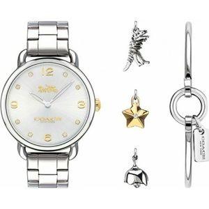 Coach Delancey Charm Gift Set silver white watch